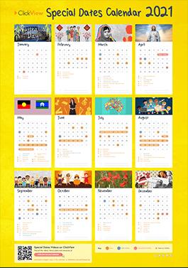 Primary Special Dates Calendar 2021