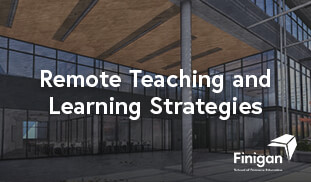 Remote Teaching and Learning Strategies