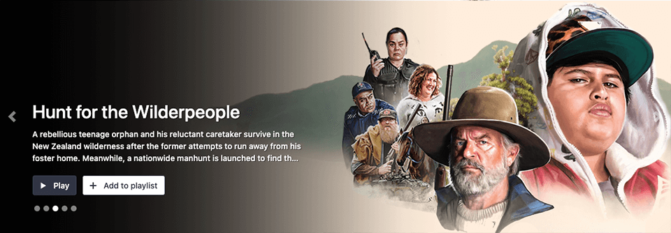 Hero banners Now - Hunt for the Wilderpeople