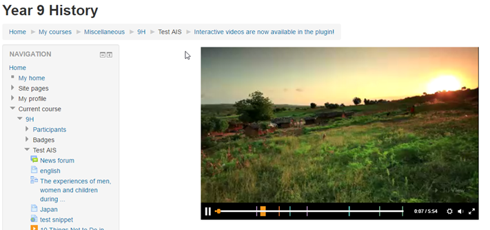 Interactive videos LMS