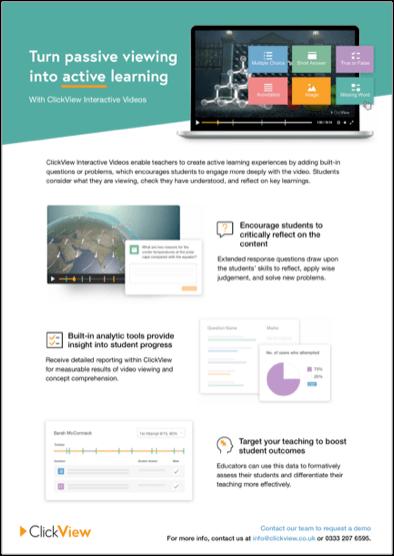 ClickView Interactive Videos Flyer